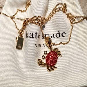 HOST PICK Kate Spade Crystal Crab Necklace